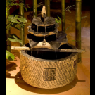 Indoor Outdoor Stone Garden Waterfall Fountain- Leaf Tower