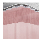 20ft Pink Medical Curtains w/ Track Kit- 9.5ft High Free Shipping