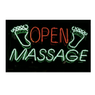 Neon Open Massage Sign