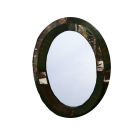 Metal Oval Framed Wall Mirror