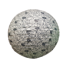 Mixed Round Paper Lanterns- Medium 6pc