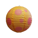 Mixed Round Paper Lanterns- Small 6pc