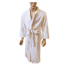 Men's Microfiber Long Robe w/ Pockets Belt-Large