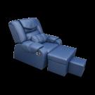 Modern Style Plush PU Reclining Foot Massage Sofa w/ Armrests