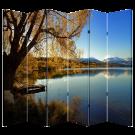 6 Panel Folding Screen Canvas Divider- Lakeside Free Shipping