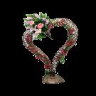 Floral Vine Heart Bronze Decoration