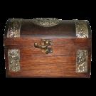 Wooden Treasure Style Jewelry Box