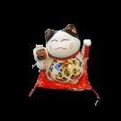 White Maneki Neko Lucky Cat Figurine- Large Free Shipping