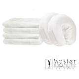 Master 3-Piece Flannel Fitted Sheet Face Cover Massage Set Free Shipping