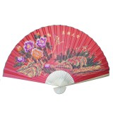 "Large 84"" Folding Chinese Wall Fan Oriental Paper Hanging (Flowers)"
