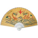 "Large 84"" Folding Chinese Wall Fan Oriental Paper Hanging (Dragon)"