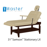 "31"" Samson Stationary Lxi Massage Table"
